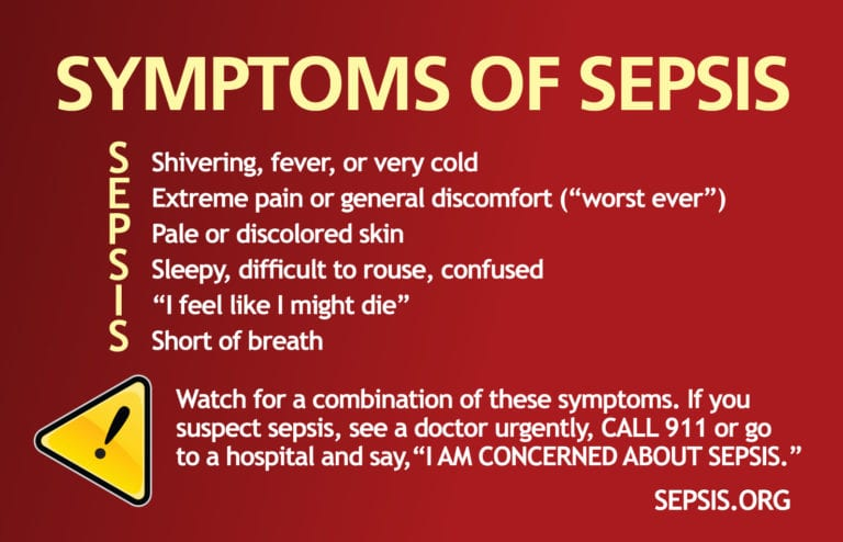 symptoms of sepsis cheat sheet