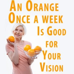 eating oranges for eye health