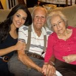 family caregiver with parents